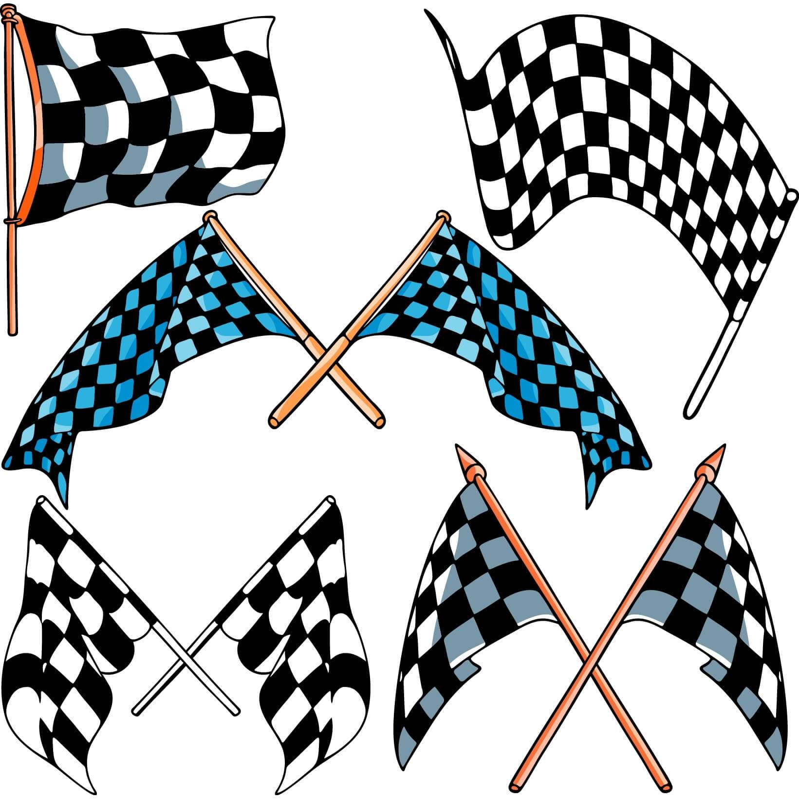 Checkered flags png