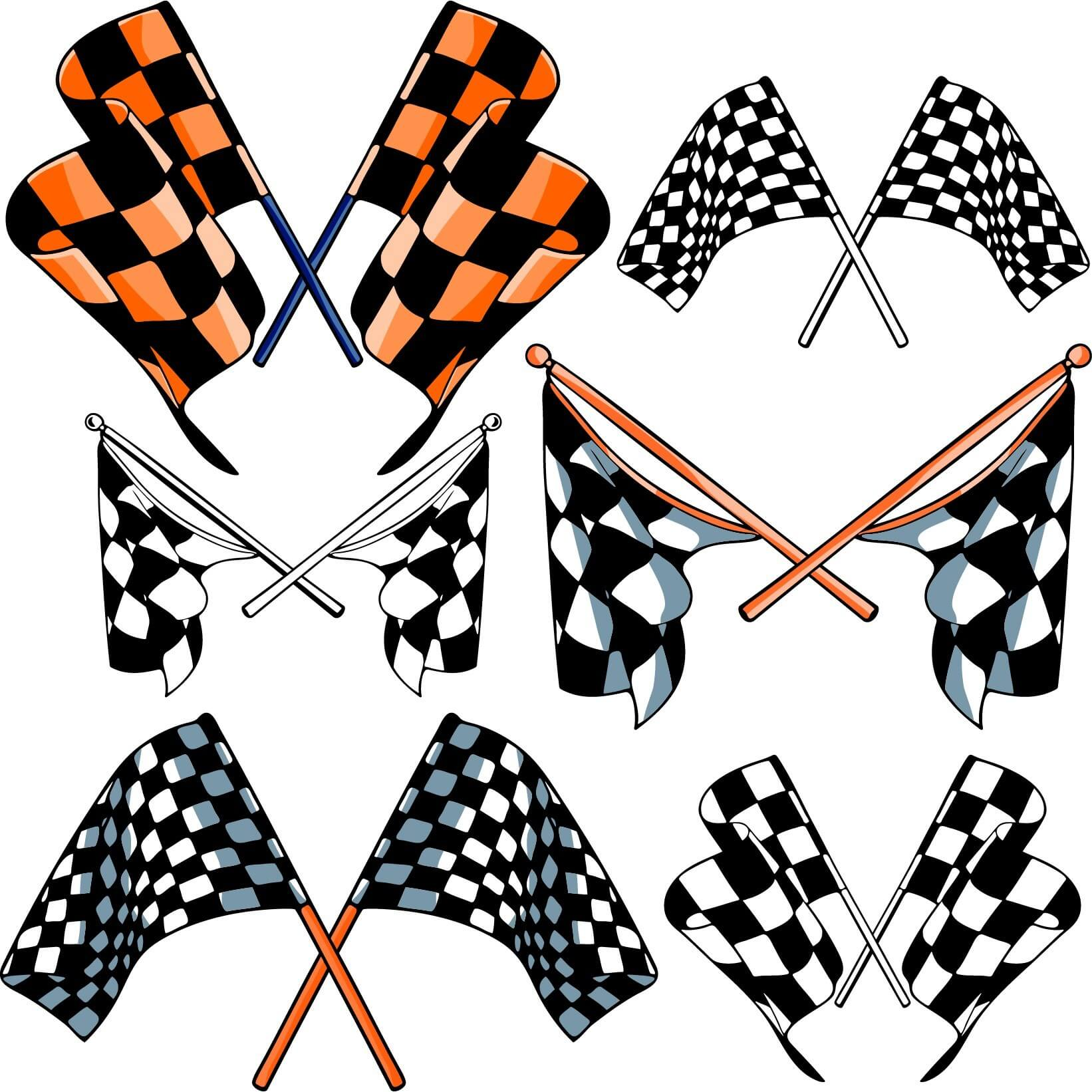 Checkered flags 03 png