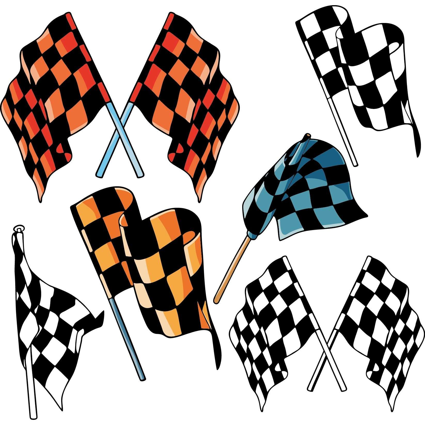 Checkered flags 02 png