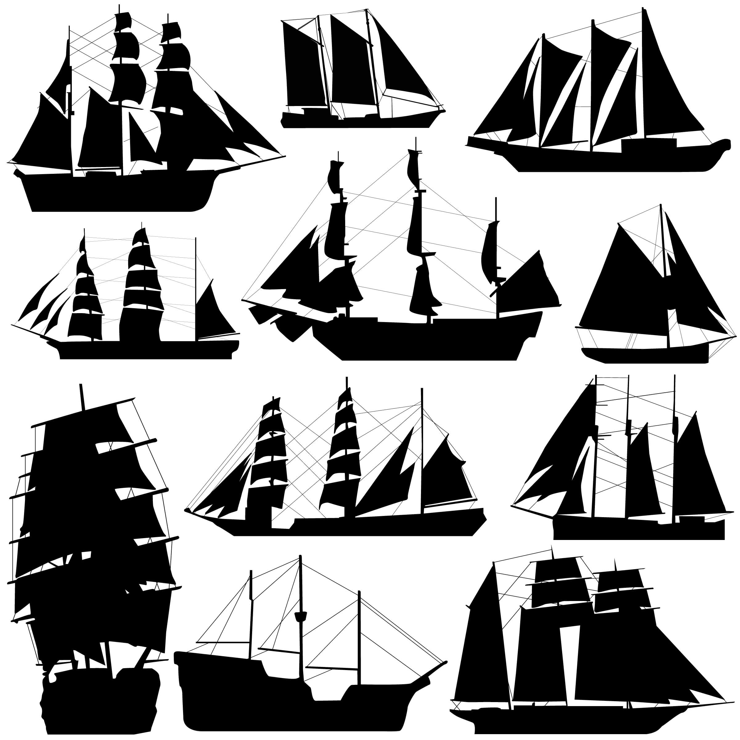 Ship Silhouettes png