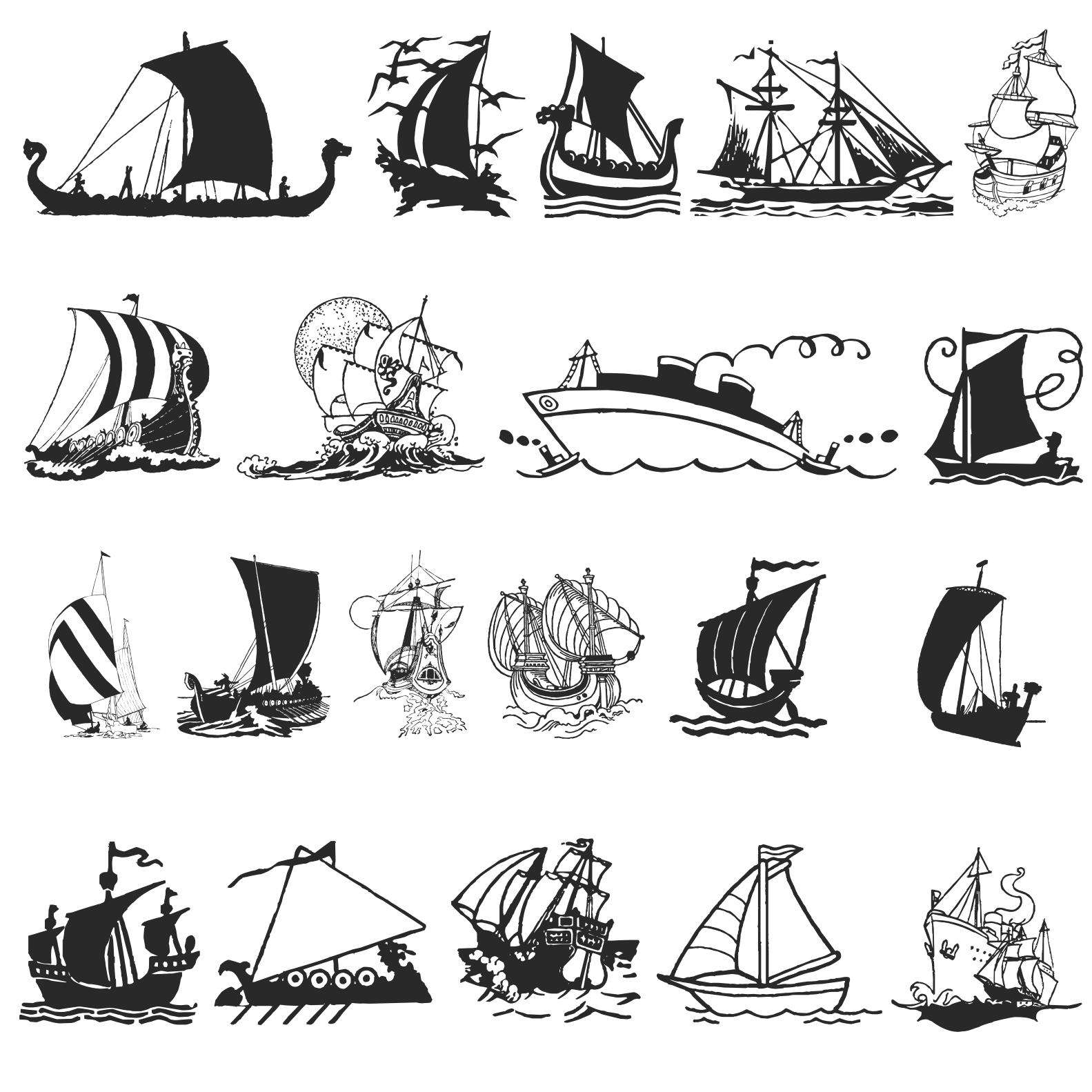 Ship Silhouettes 02 png