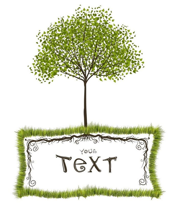 Tree Background, Text Frame png