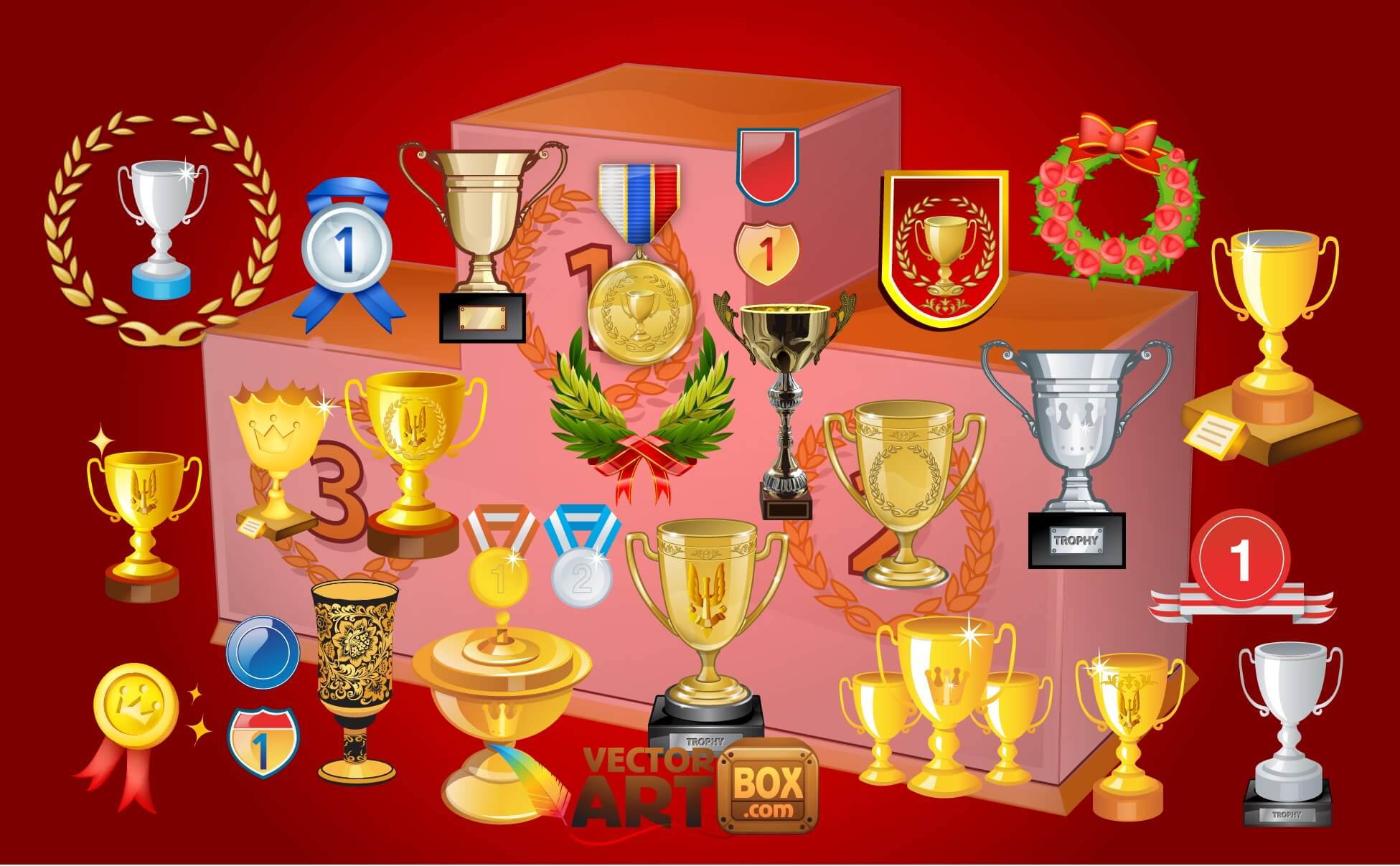 Trophies Awards png