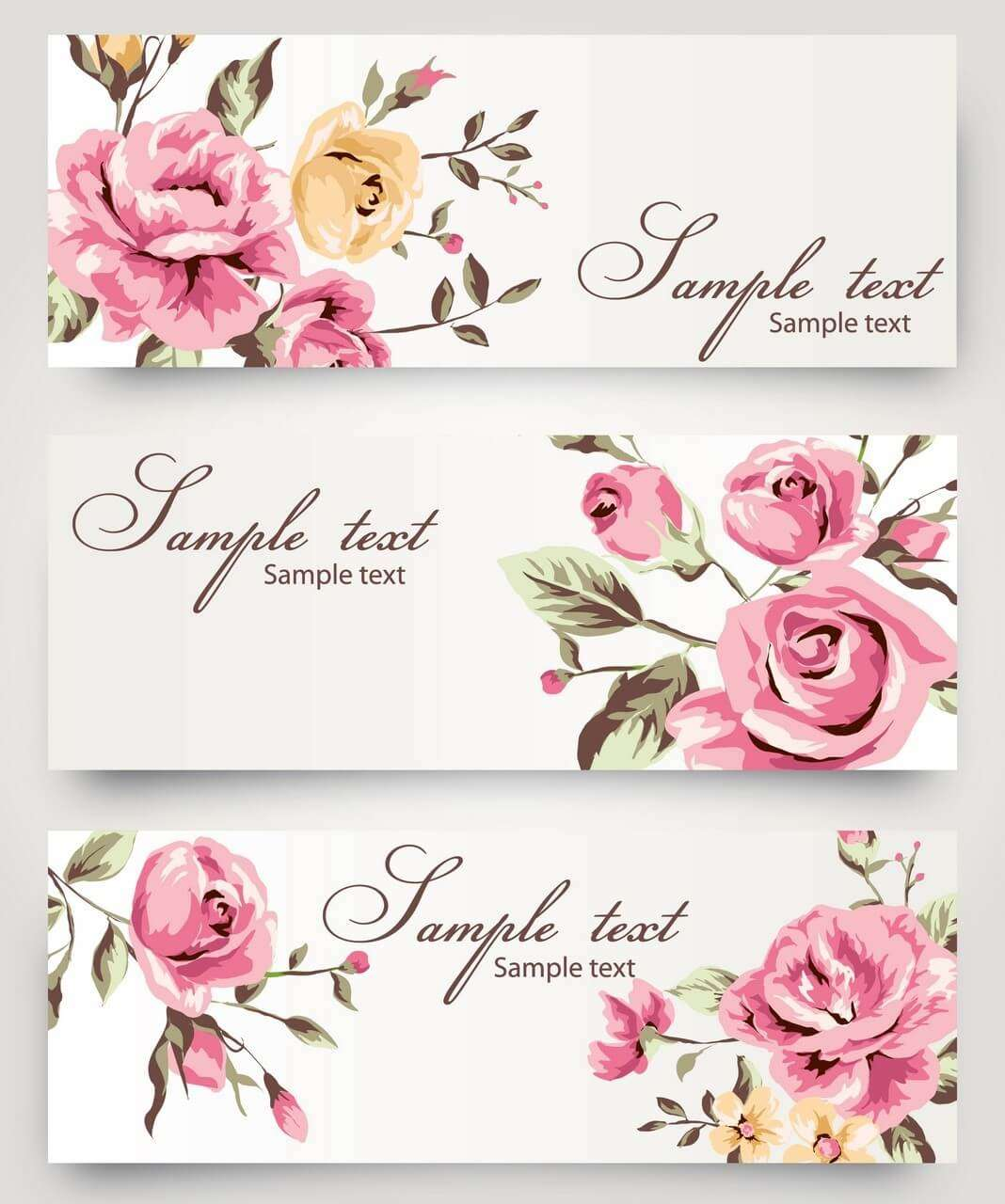 Banner 12 [flower, rose, hand painted] png
