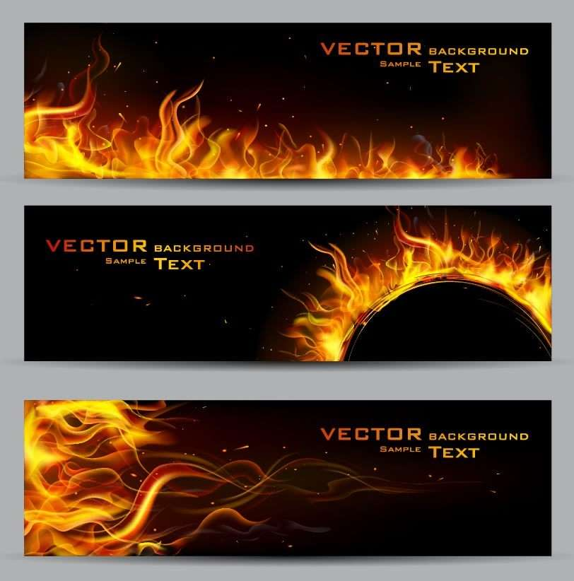 Banner 22 [Flame, decorative, background] png