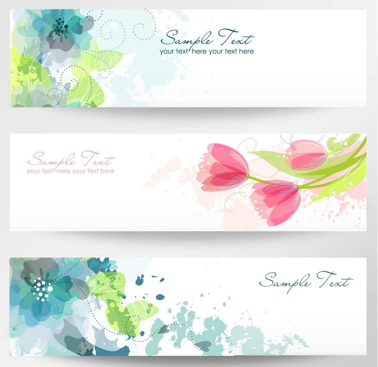 banner 24 elegant floral flower vector icon template