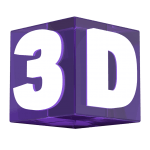 The Word 3D in 3D [PNG   1024x1024] png