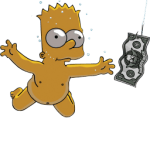 Bart Simpson 06 Nirvana Nevermind