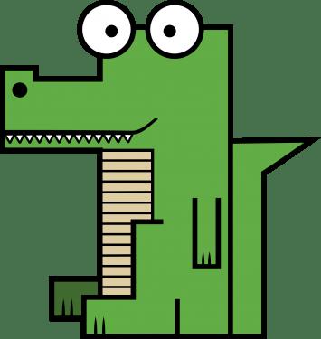 Crocodile 355x375 vector