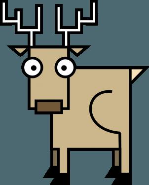 Deer 302x375 vector