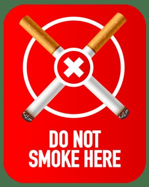 Do not smoke here symbol 299x375 vector