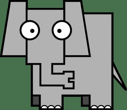 Elephant 433x375 vector