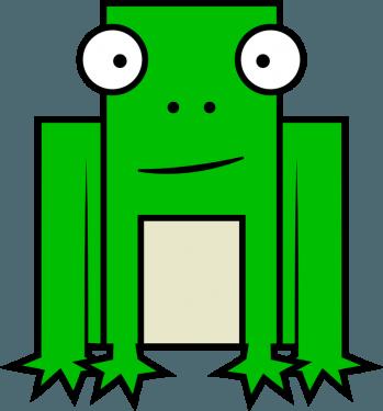 Frog 349x375 vector