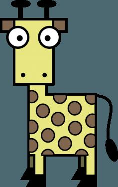 Giraffe 237x375 vector