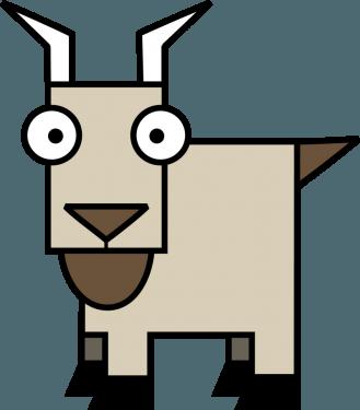 Goat 329x375 vector