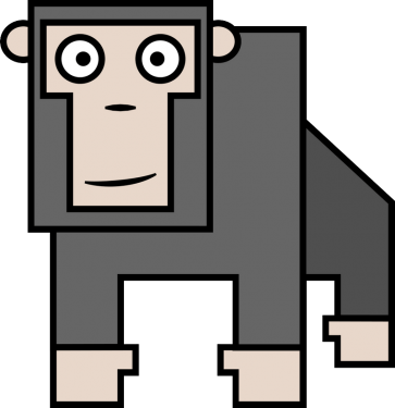 Gorilla 363x375 vector