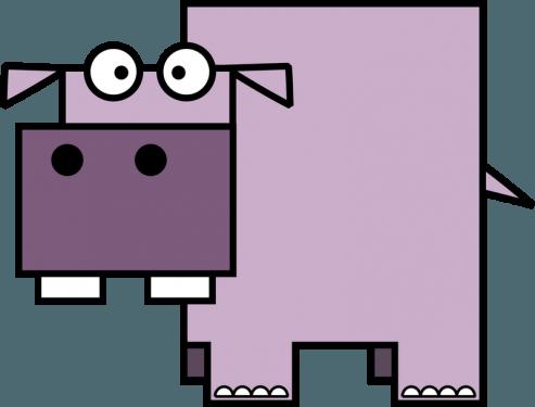 Hippo 493x375 vector