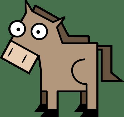 Horse 398x375 vector