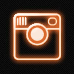 Neon Social Media Icons [256x256] png