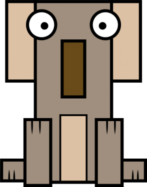 Koala 294x375 vector