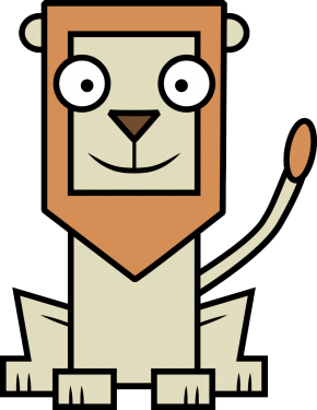 Lion 290x375 vector