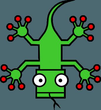Lizard 344x375 vector