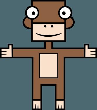 Monkey 331x375 vector