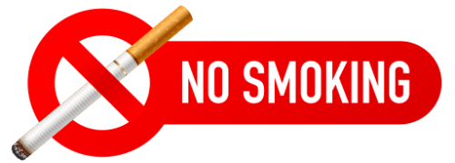 No Smoking Signs 500x180 vector