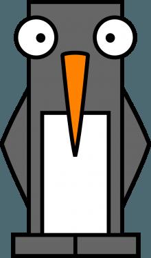 Penguin 220x375 vector