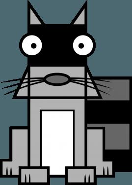 Raccoon 269x375 vector