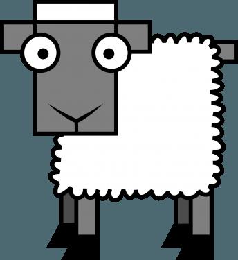 Sheep 344x375 vector
