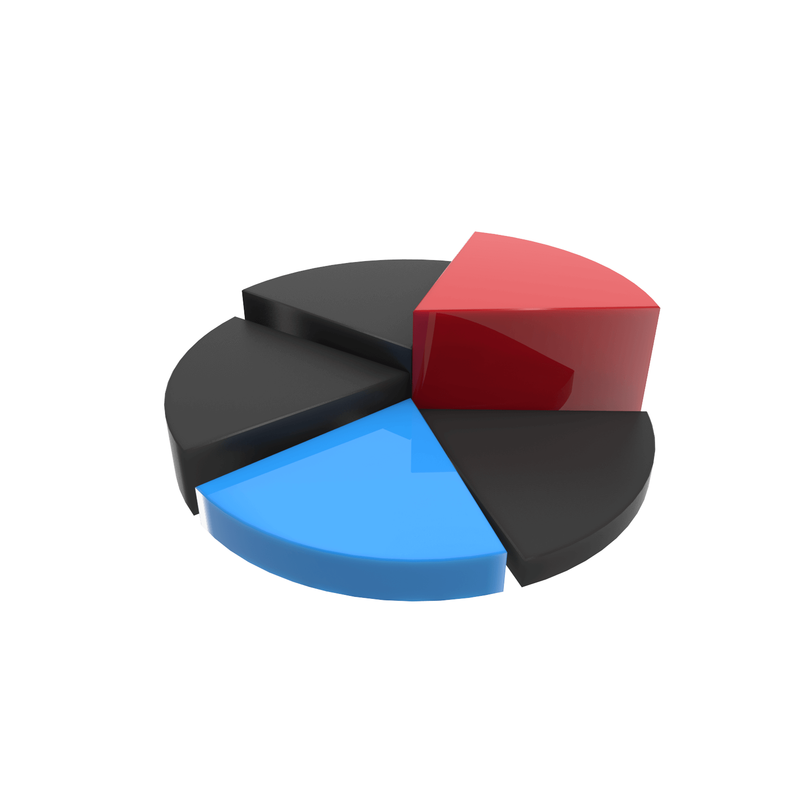 Free 3D Chart Pie [PNG 1600x1600] png