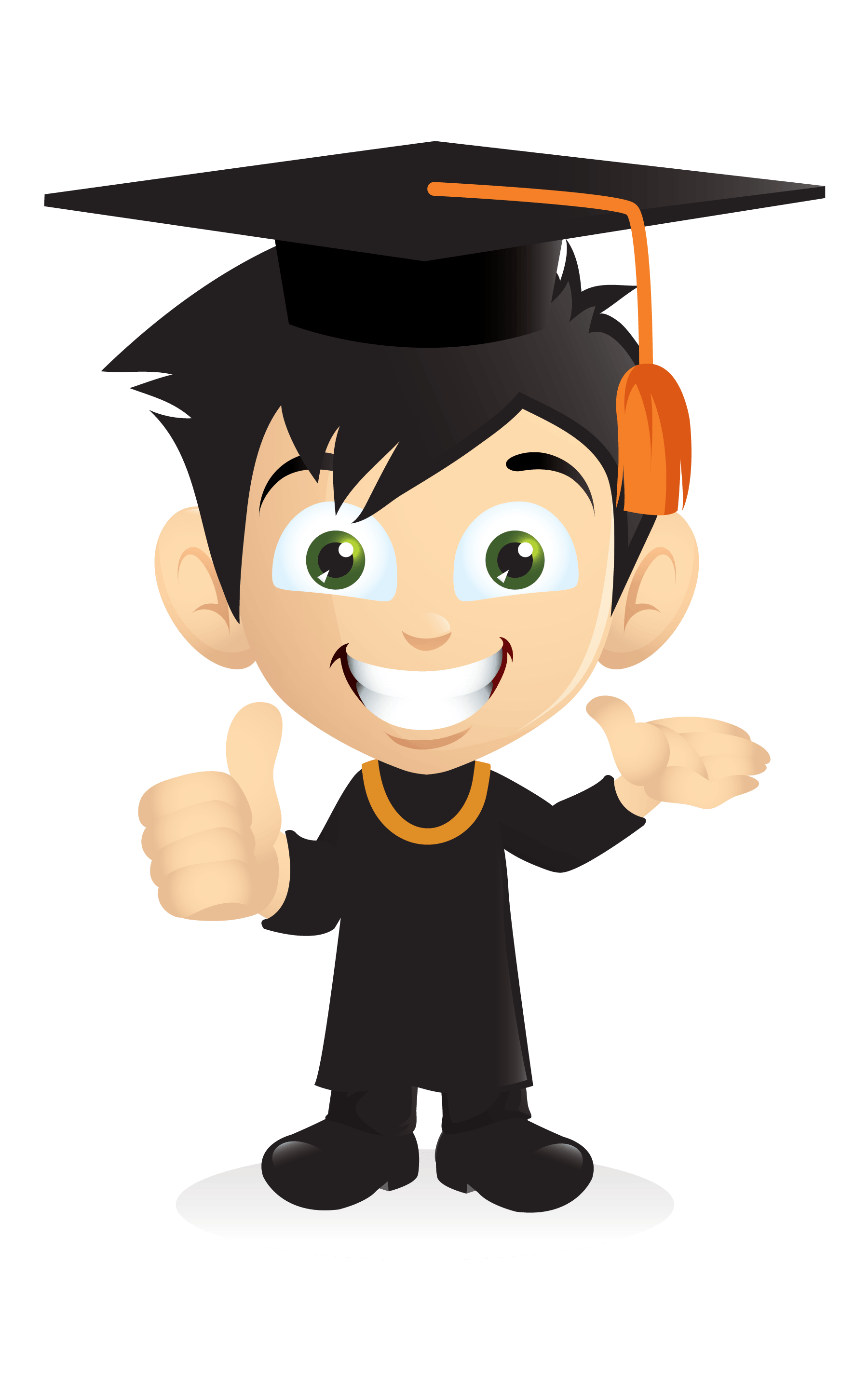 Cartoon Smiling Graduation Boy [PNG] png