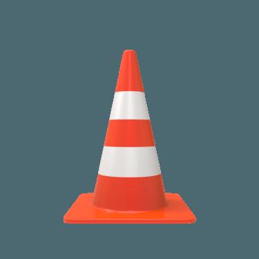 traffic cone 2 375x375 vector