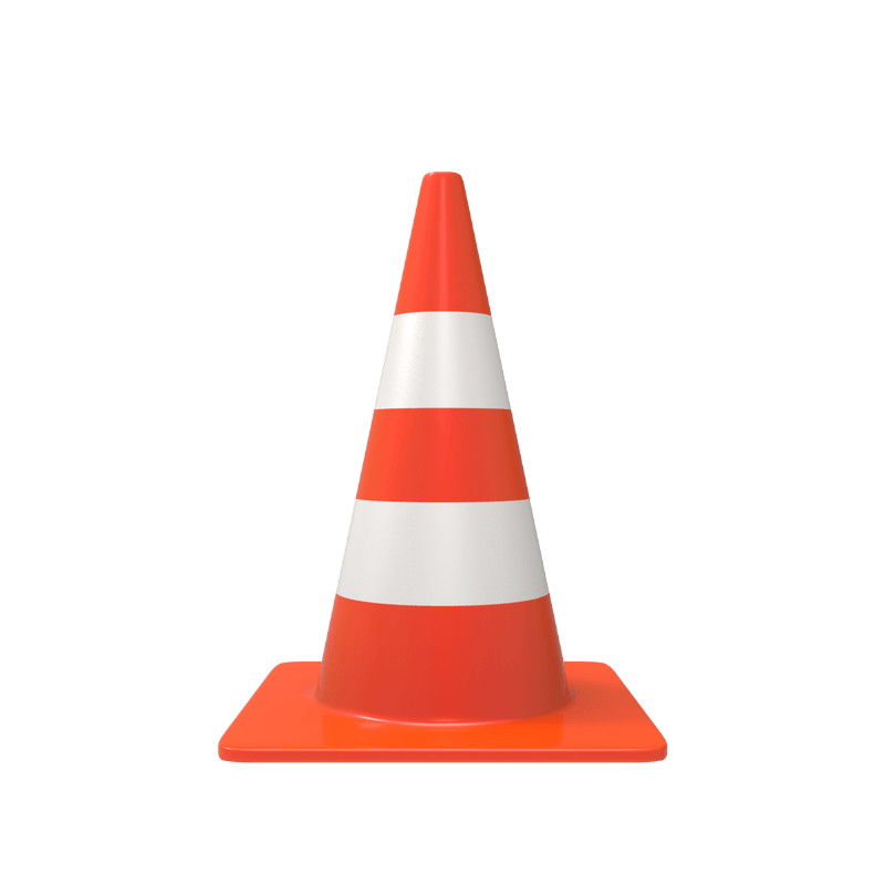 3D Traffic Cone [PNG – 800×800] - 128.9KB