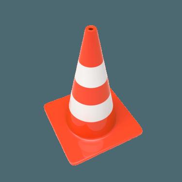 traffic cone 3 375x375 vector