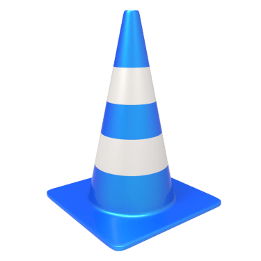 traffic cone 4 375x375 vector