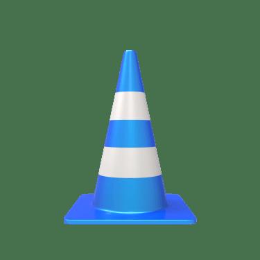 traffic cone 5 375x375 vector