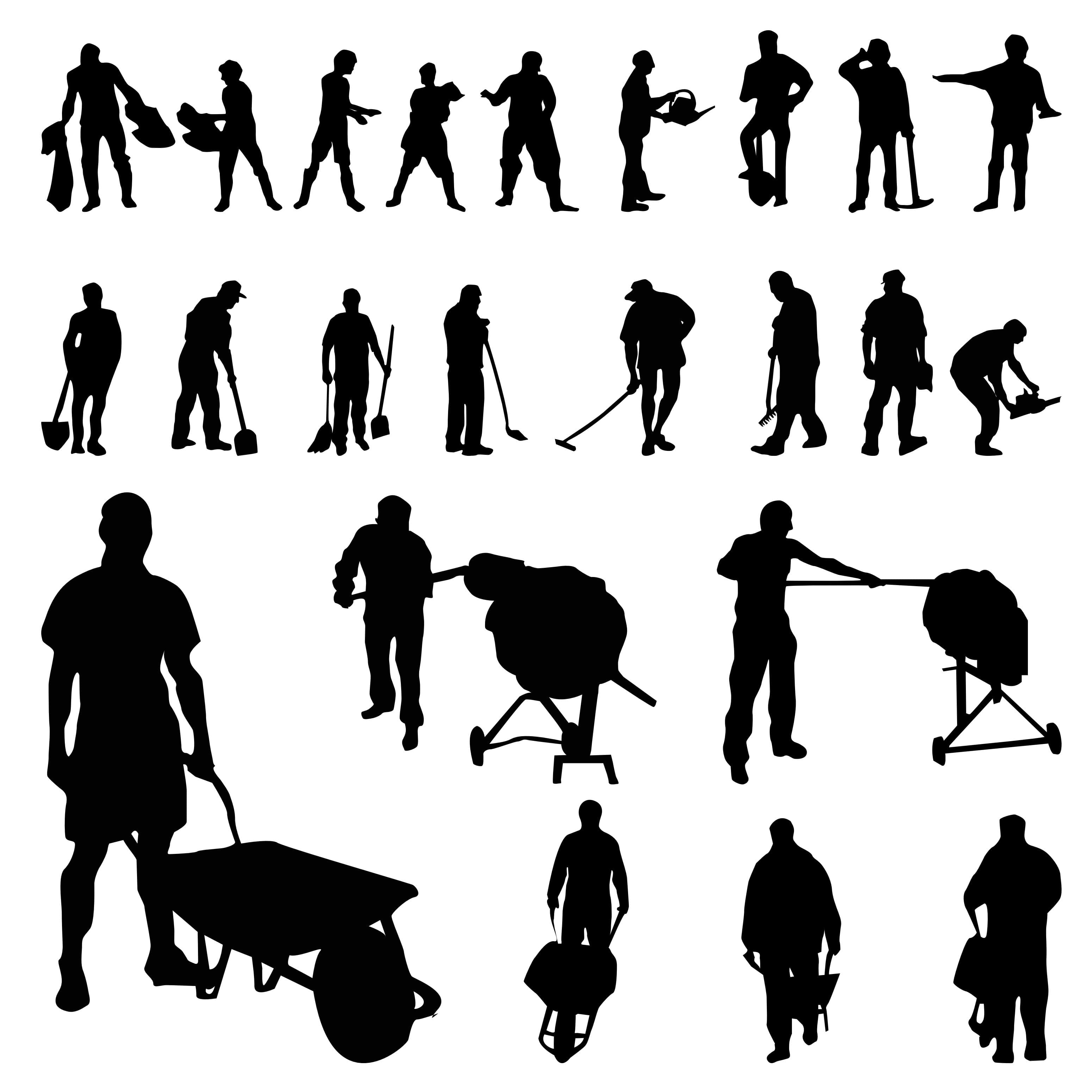 Worker Silhouettes png