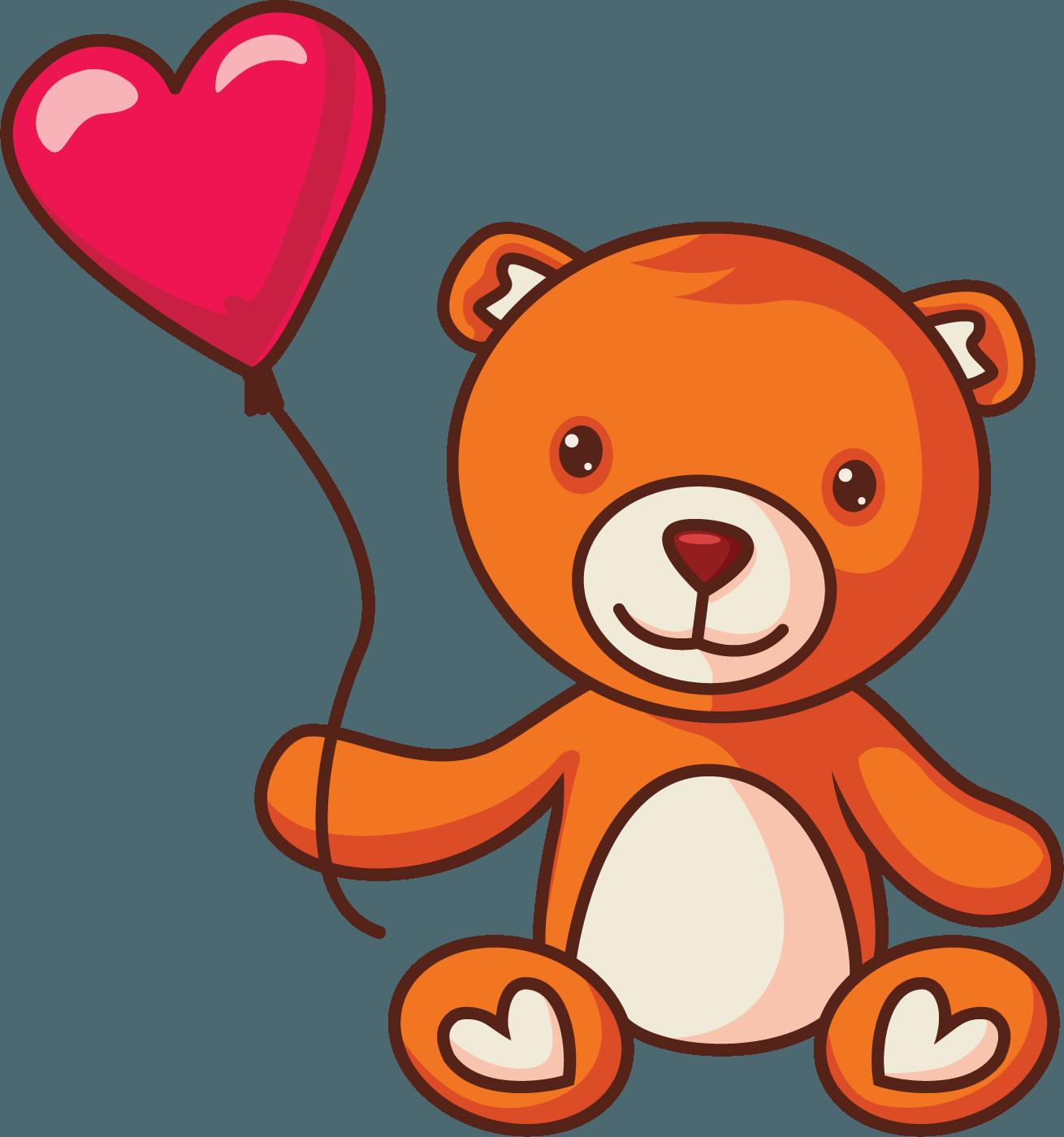 Free Vector Teddy Bears Set [PNG]