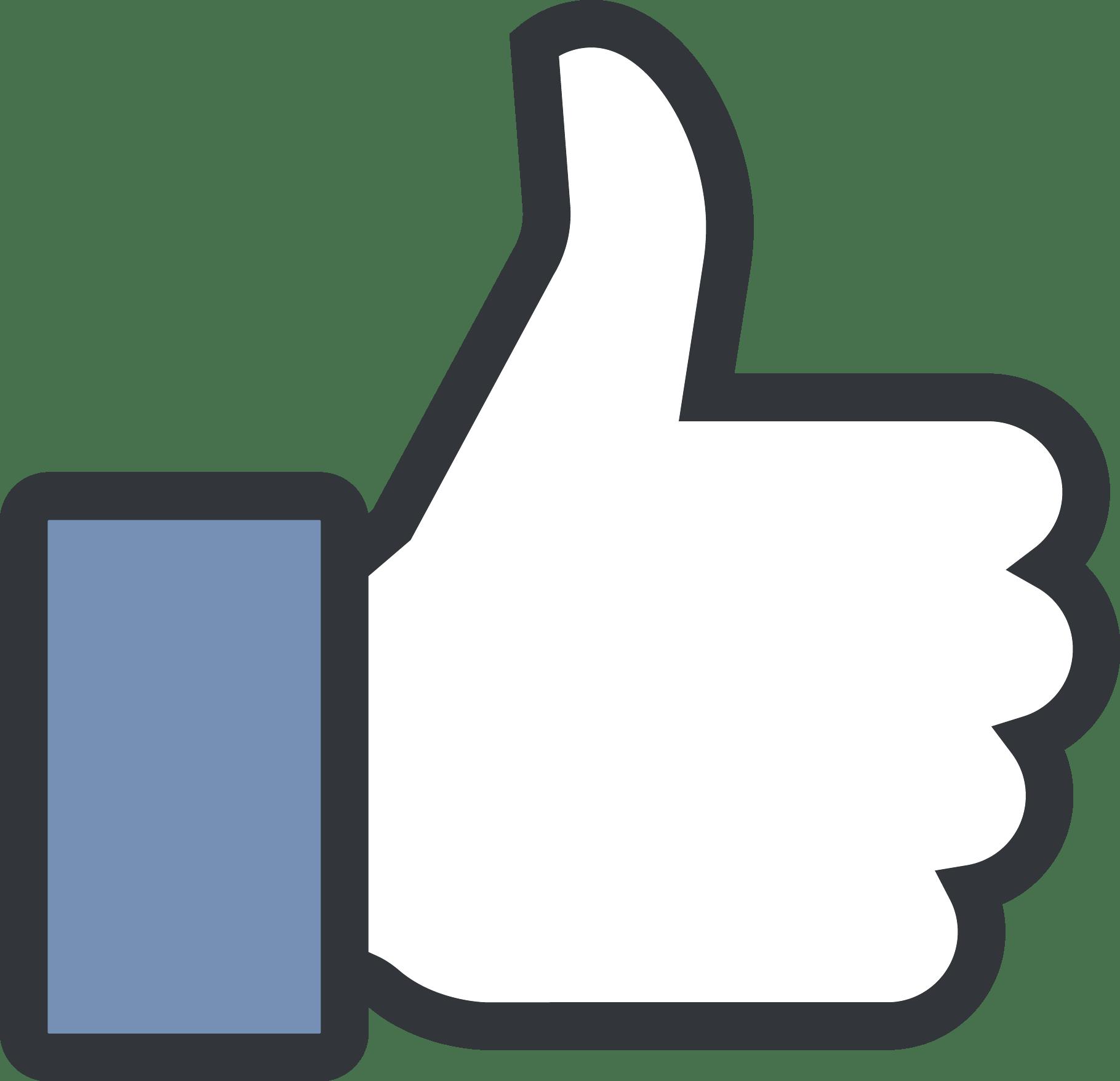 Like Facebook Logo Black And White Facebook Like Logo Fre...