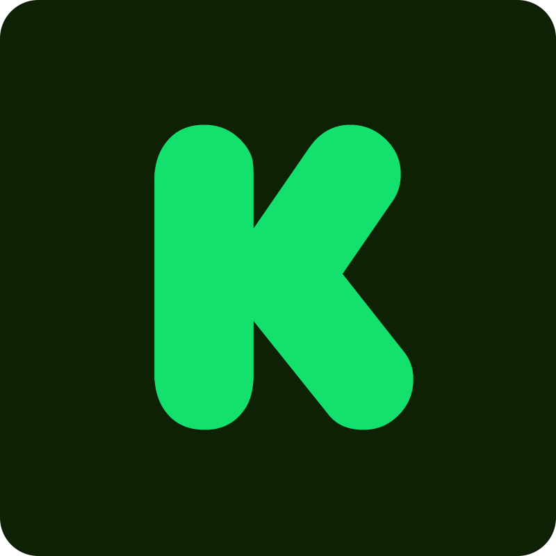kickstarter logo k color vector