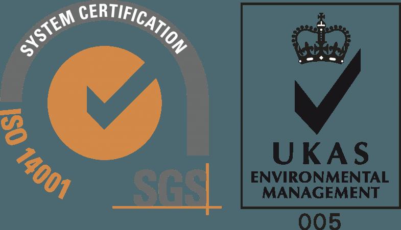ISO 14001 Logo [SGS   UKAS]