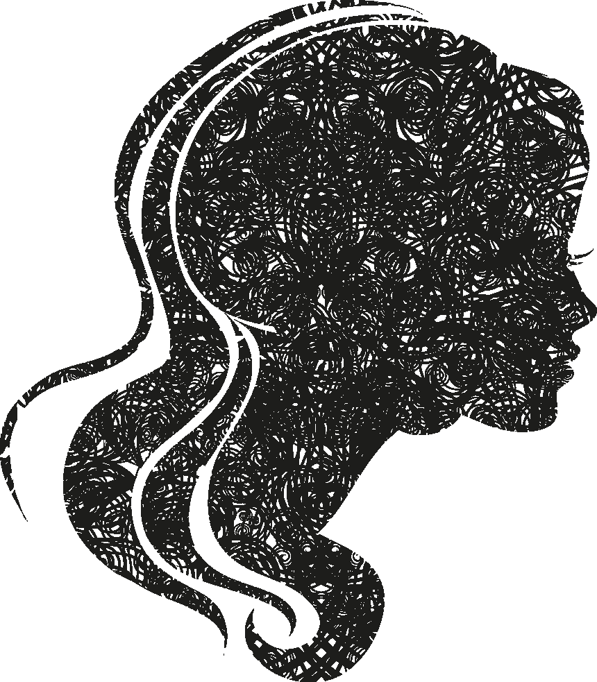 Female Head Silhouettes png