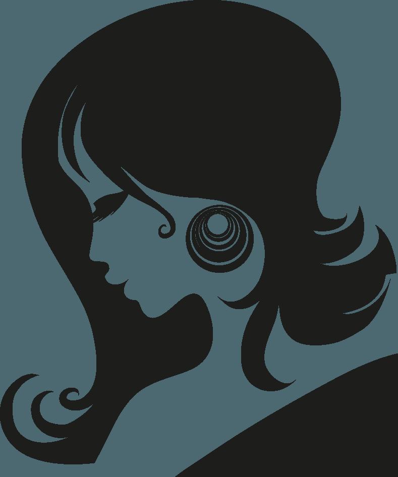 Female Head Silhouettes Vector Icon Template Clipart Free