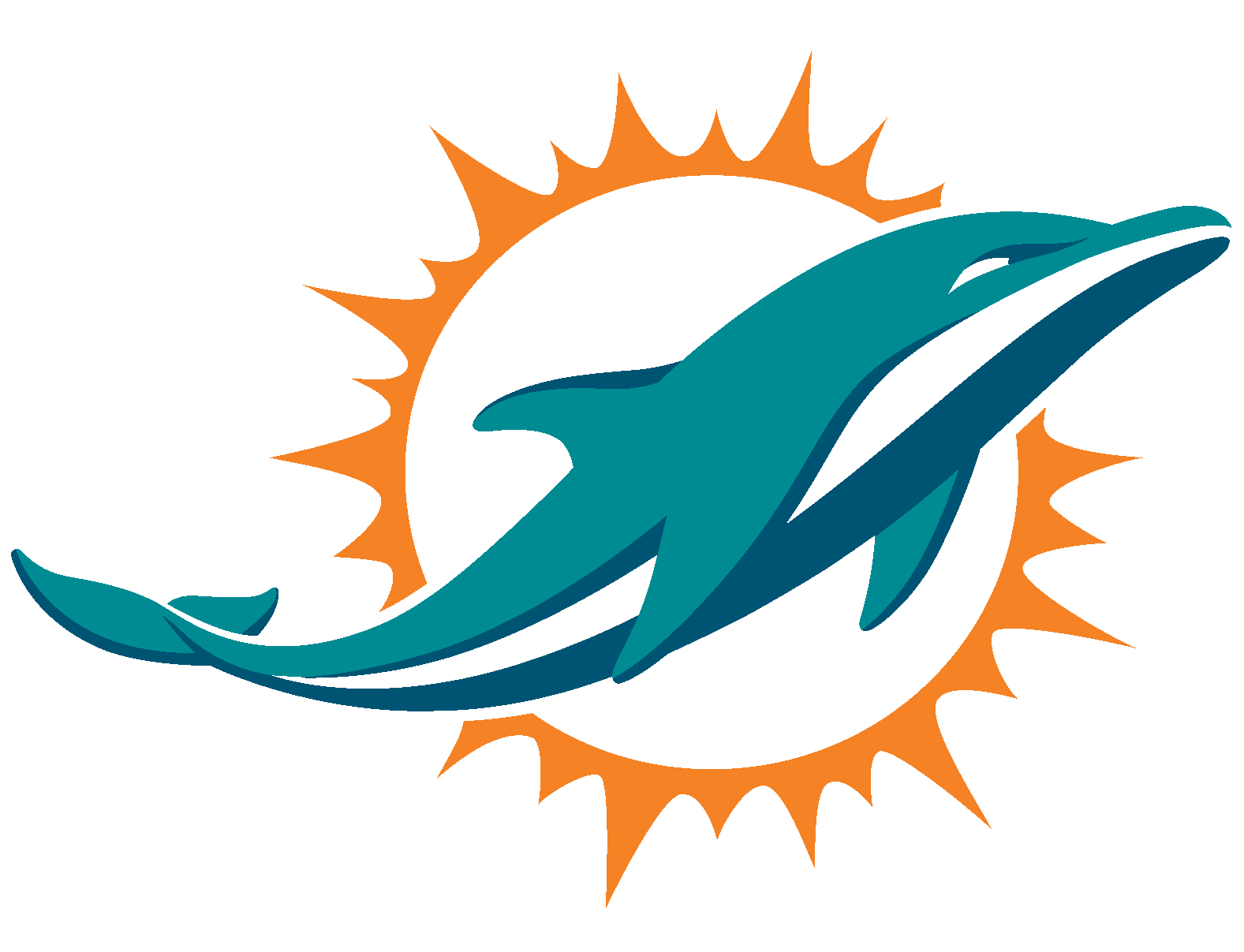 4c36ff243d10 Miami Dolphins Logo Vector Icon Template Clipart Free Download