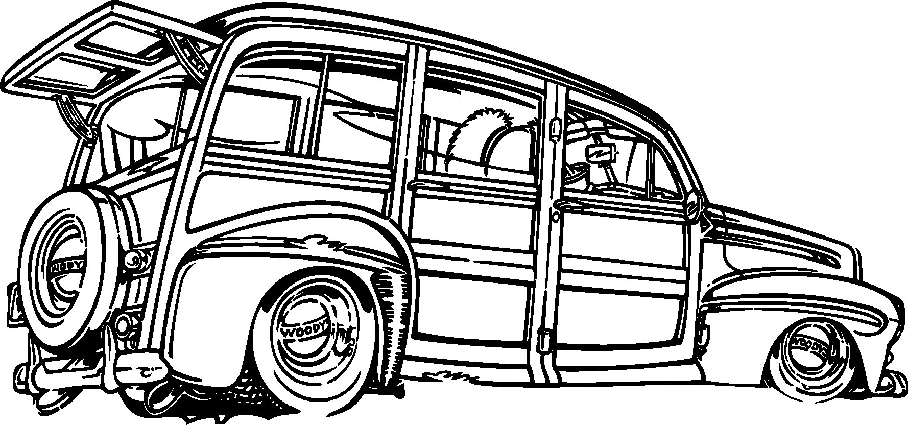 Transport Classic Cars Silhouettes Vector Free Download