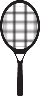 sport stuffs tennis racket 159x375 vector