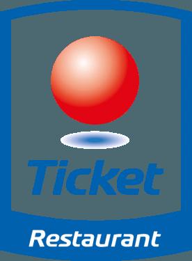 Ticket Restaurant Vektörel Logo