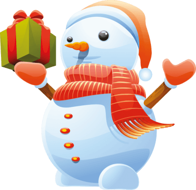 3D Cute Snowman Vector Art png